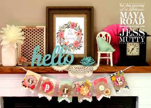 Spring Banner by Jess Mutty for Maya Road
