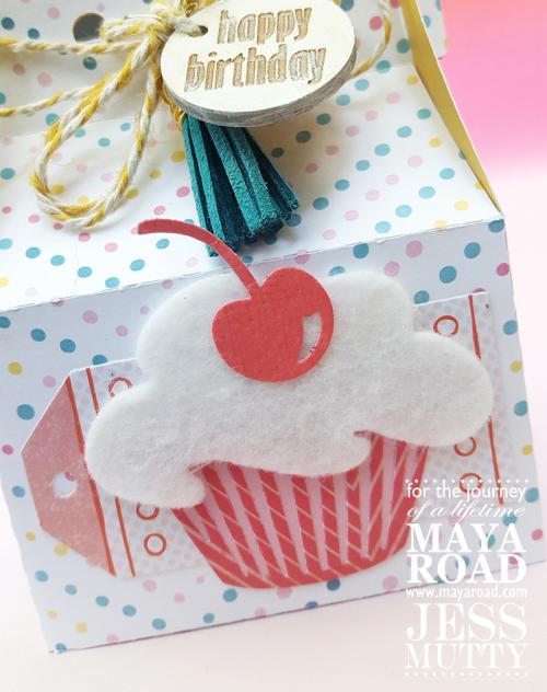 Birthday Gift Card Box by Jess Mutty for Maya Road