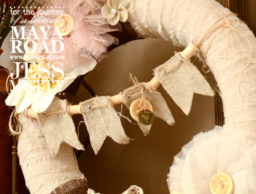 Natural Fall Wreath by Jess Mutty for Maya Road.  Autumn Decor.  Autumn Wreath.